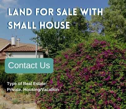 Land for sale in Israel with small house